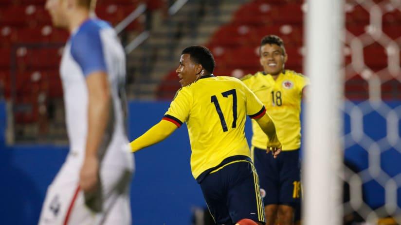 Roger Martinez - Colombia - Celebrates goal vs US U-23