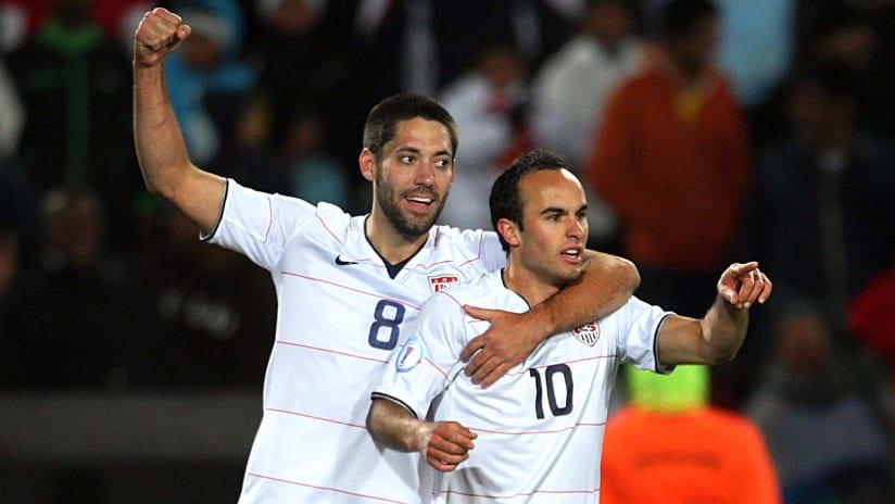 Clint Dempsey, Landon Donovan - US national team - during Confederations Cup 2009