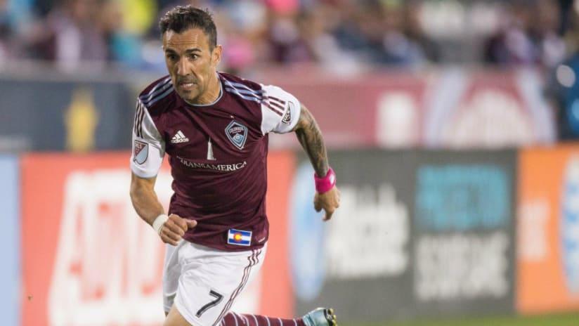 Vicente Sanchez - Colorado Rapids - focuses on dribbling upfield in 2015