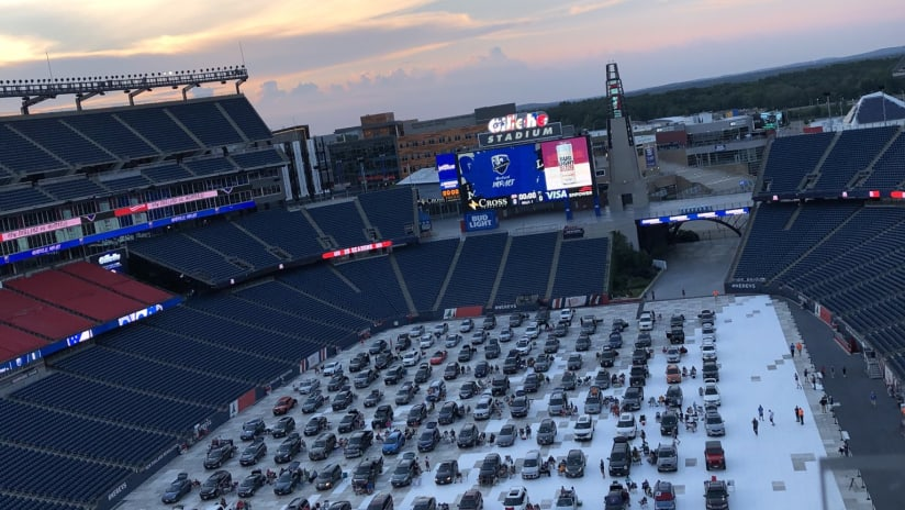 THUMB ONLY: Gillette Stadium drive-in viewing party - New England Revolution