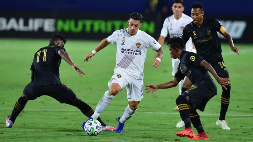 Cristian Pavon - dribbling - through LAFC