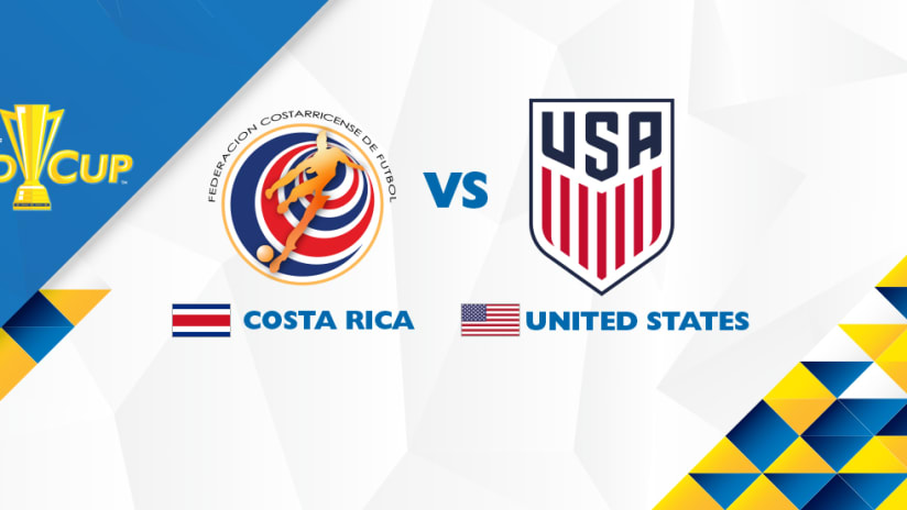 Gold Cup match image: Costa Rica vs. USA - July 22, 2017