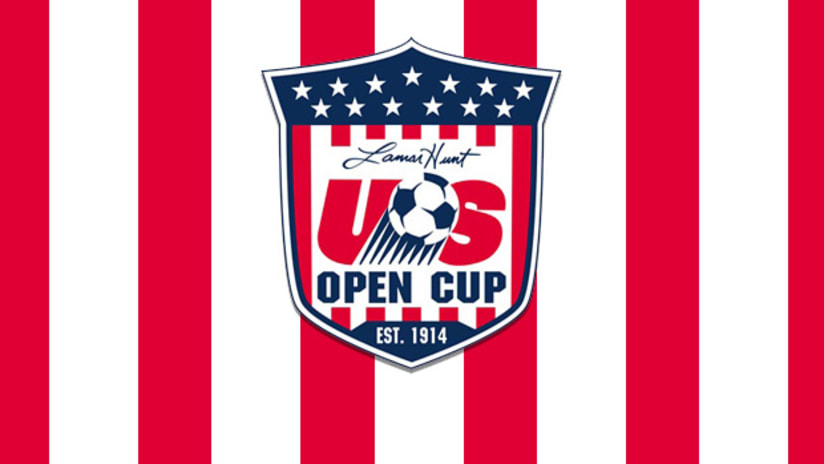US Open Cup logo with background