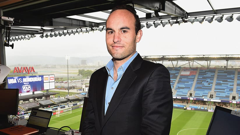 Landon Donovan - in the booth for FOX Sports