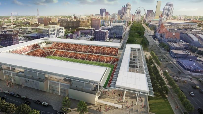 St. Louis MLS stadium rendering 1