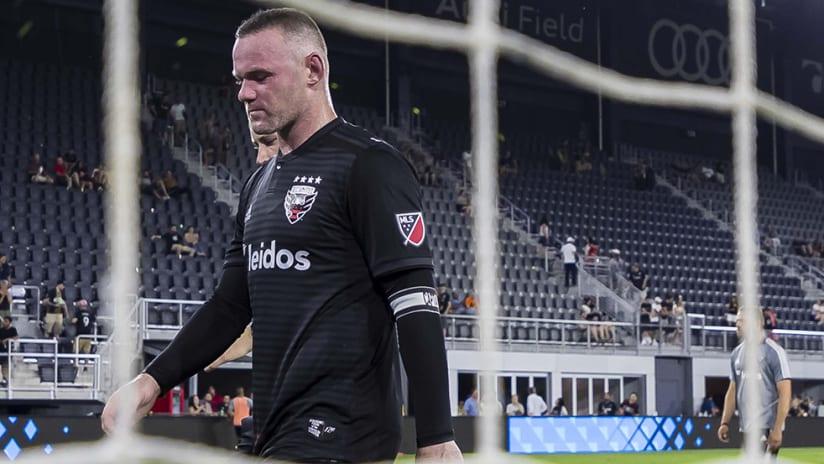 Wayne Rooney – Audi Field – walks off