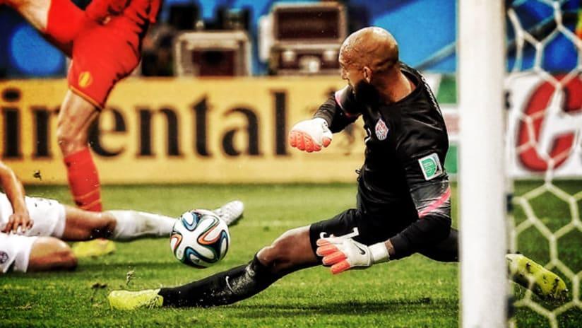 World Cup: Tim Howard, US national team, vs. Belgium.