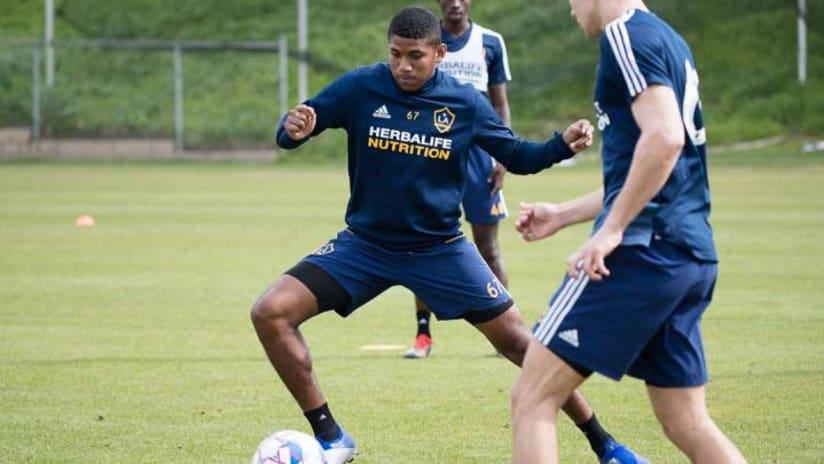 Carlos Harvey - LA Galaxy - Training