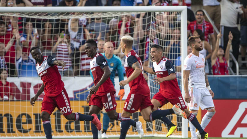FC DALLAS - Celebration after Ziegler goal - against Atlanta