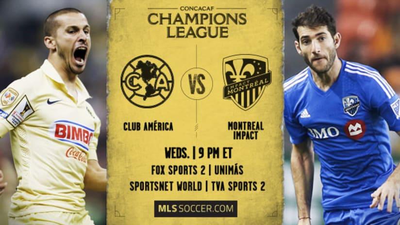 CONCACAF Champions League: Club America vs. Montreal Impact, April 22, 2015