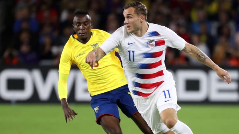 Jordan Morris - USMNT - against Ecuador