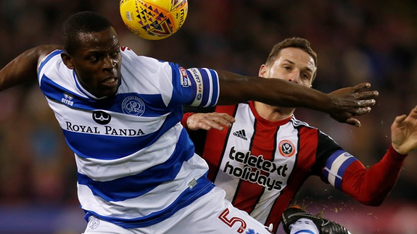 Nedem Onuoha - in action for QPR in February 2018 - Real Salt Lake