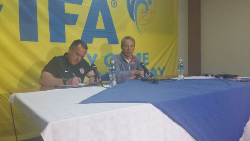 Jurgen Klinsmann - US national team - Postgame press conference - Guatemala City