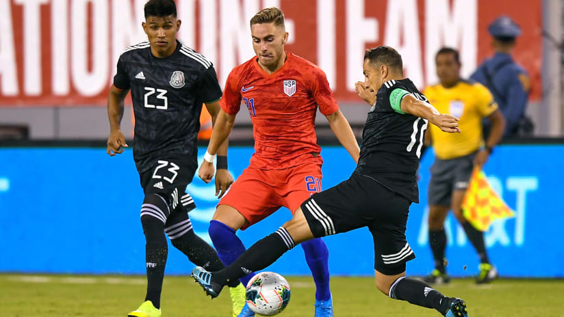Tyler Boyd - USMNT - United States - in action against Mexico