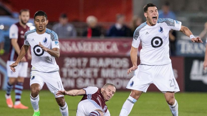 Johan Venegas, Christian Ramirez - Minnesota United - On the ball