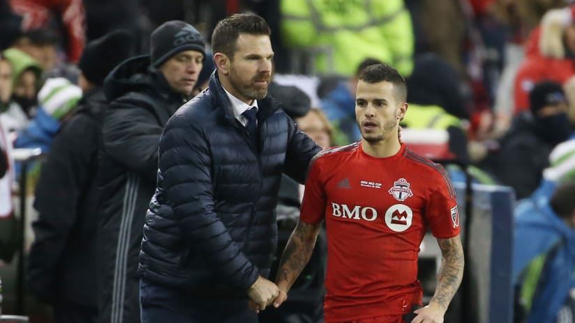 Sebastian Giovinco & Greg Vanney - Toronto FC - MLS Cup 2016