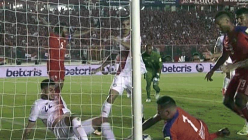 Panama equalizing goal vs. Costa Rica - October 10, 2017