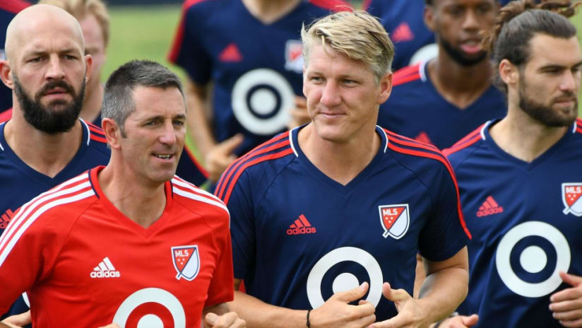 MLS All-Stars training session with Bastian Schweinsteiger front and center — 7/31/17