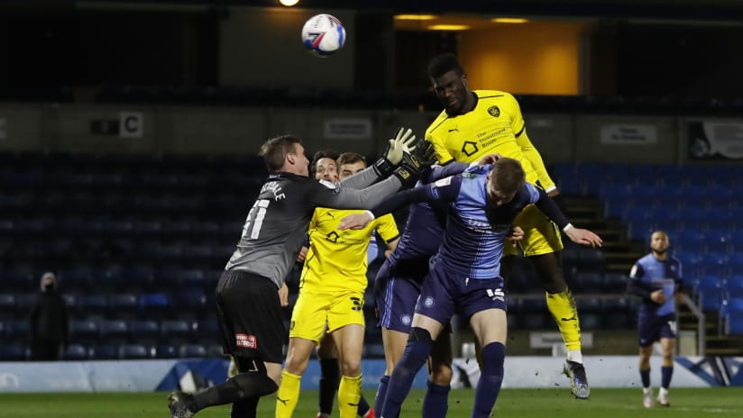 Daryl Dike - scoring for Barnsley v Wycombe