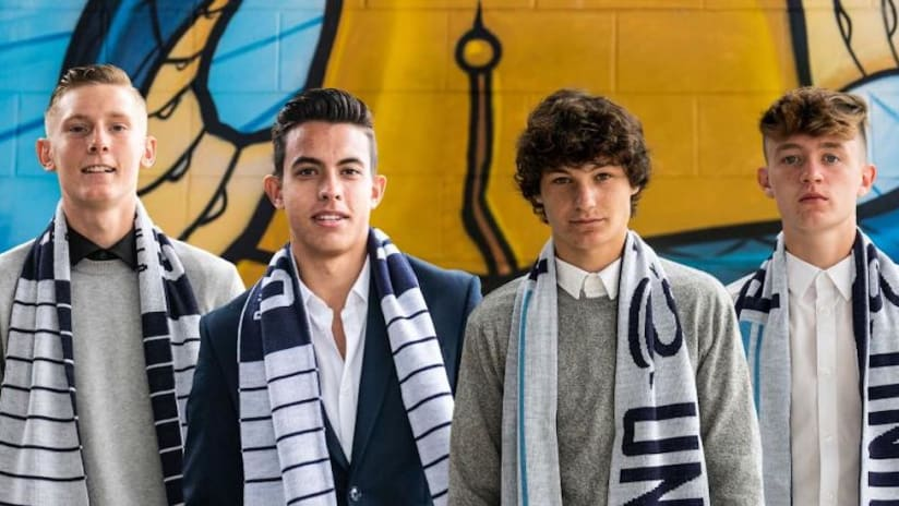 EMBED ONLY: Philadelphia Union 2021 homegrowns together