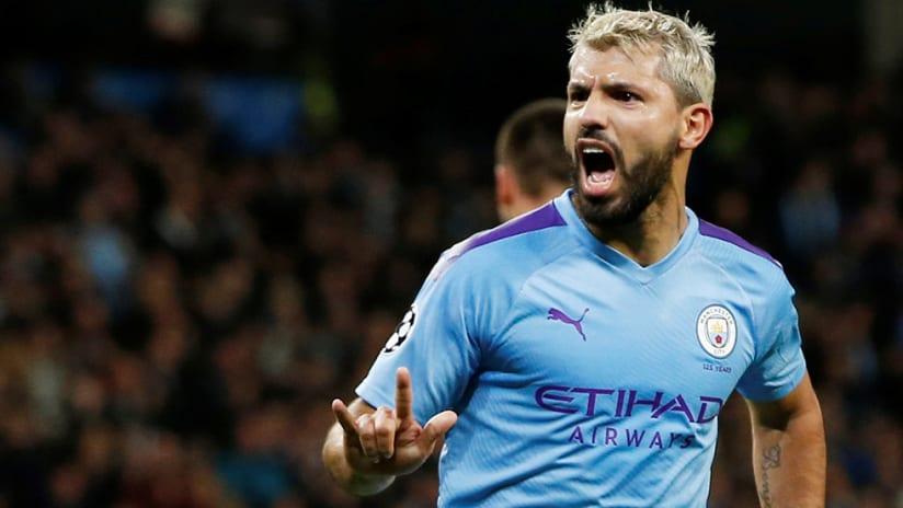 Sergio Aguero - Manchester City - goal celebration