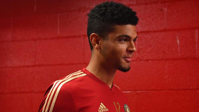 Miles Robinson - Atlanta United - in the tunnel