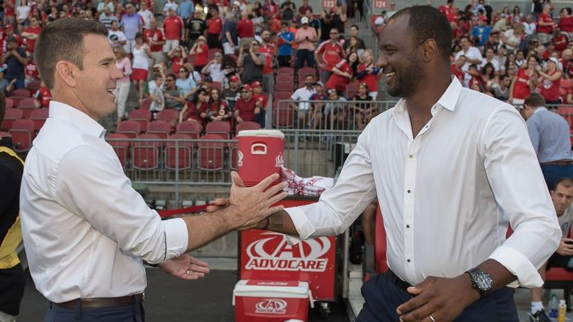 Greg Vanney, Patrick Vieira - Toronto FC, New York City FC - handshake