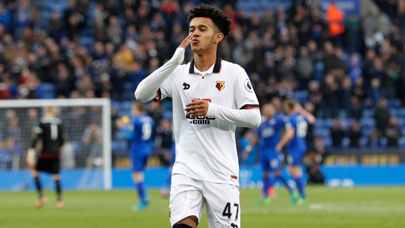 Dion Pereira - Atlanta United - blows a kiss to fans while playing for Watford