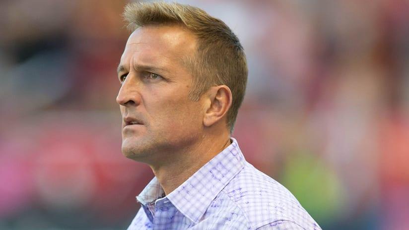 Jason Kreis - Orlando City - sideline coaching