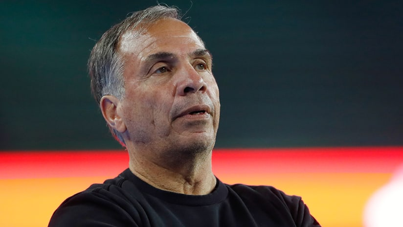 Bruce Arena - sidelines - stoic look