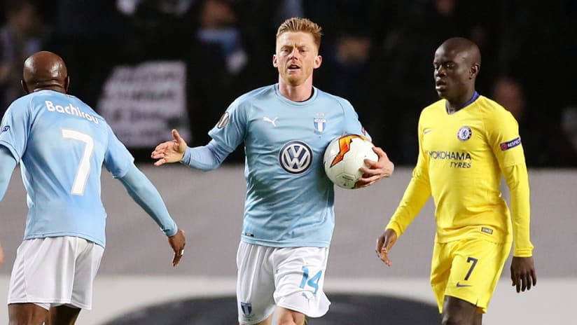 Anders Christiansen – Malmo – after goal