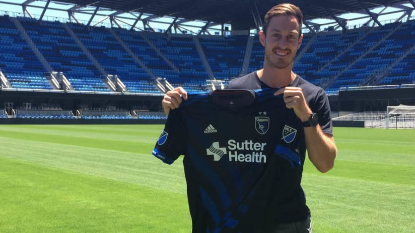 Francois Affolter - San Jose Earthquakes - holding jersey