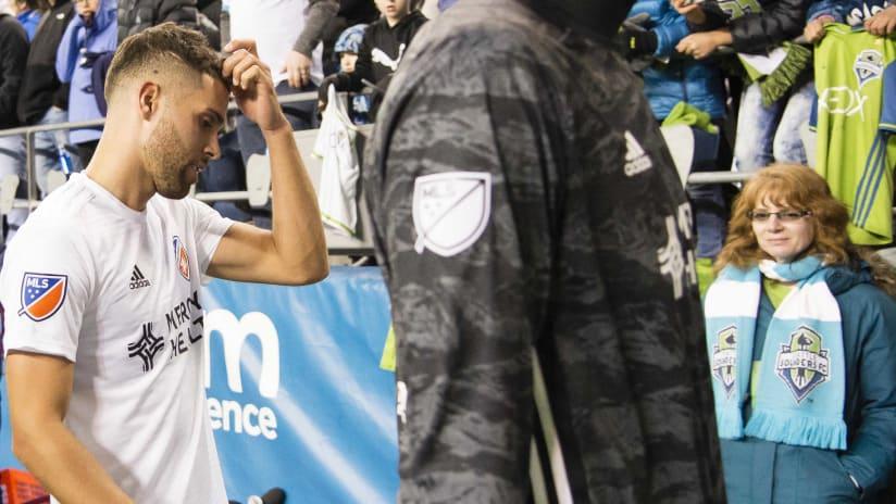 Leonardo Bertone - FC Cincinnati - downbeat after game