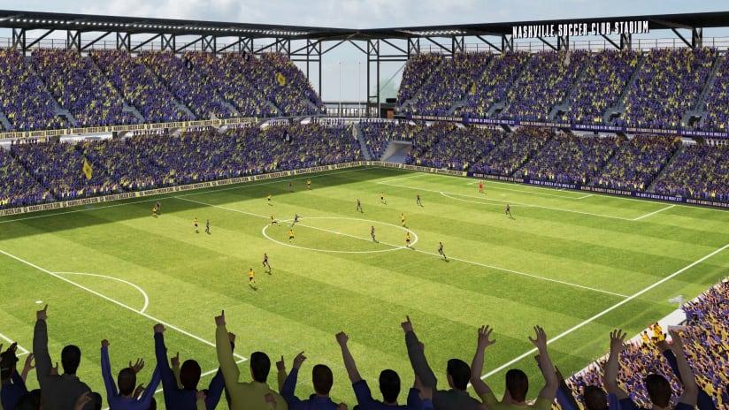 Nashville SC - Stadium rendering