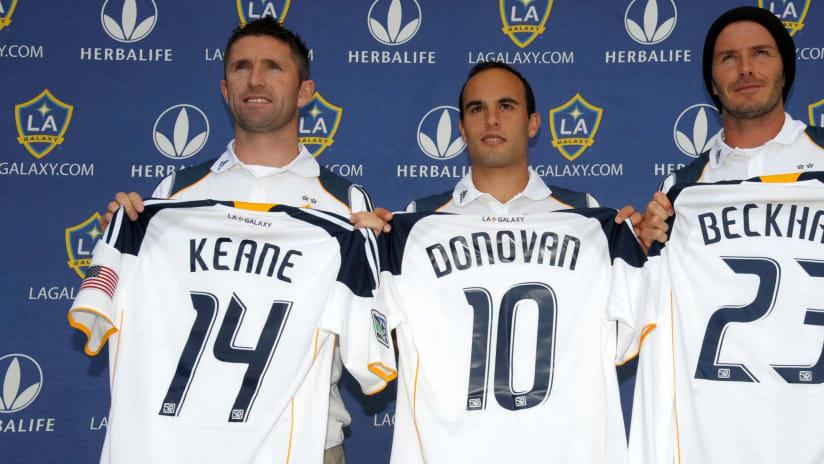 LA Galaxy - Beckham, Donovan, Keane