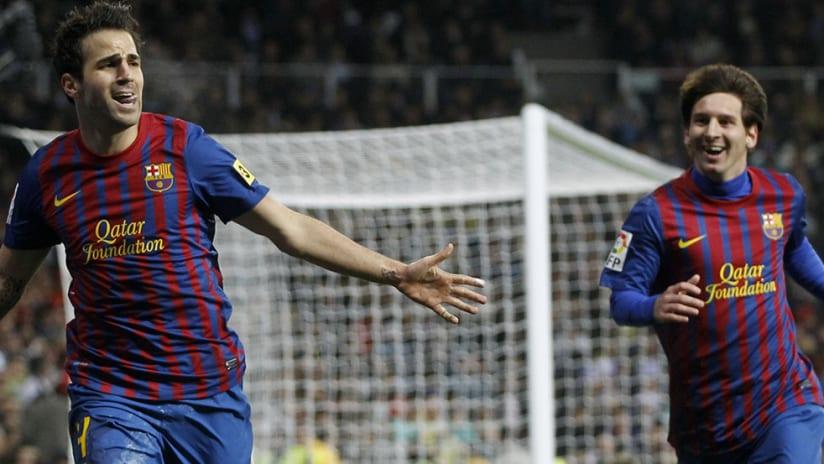 Cesc Fabregas - Lionel Messi - FC Barcelona