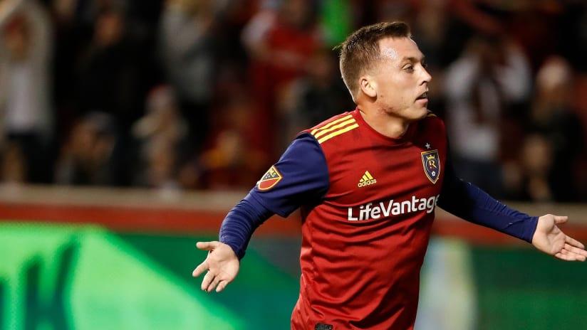 Corey Baird - Real Salt Lake - Celebrates goal