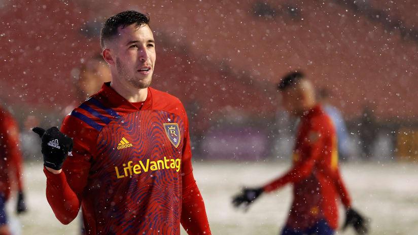 Aaron Herrera - Real Salt Lake - In the snow