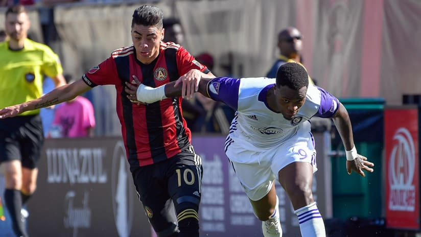 Miguel Almiron -- Cyle Larin -- duel