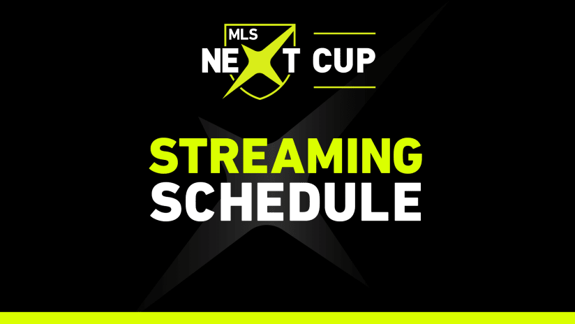 MLS NEXT Cup Playoffs 2021 streaming schedule
