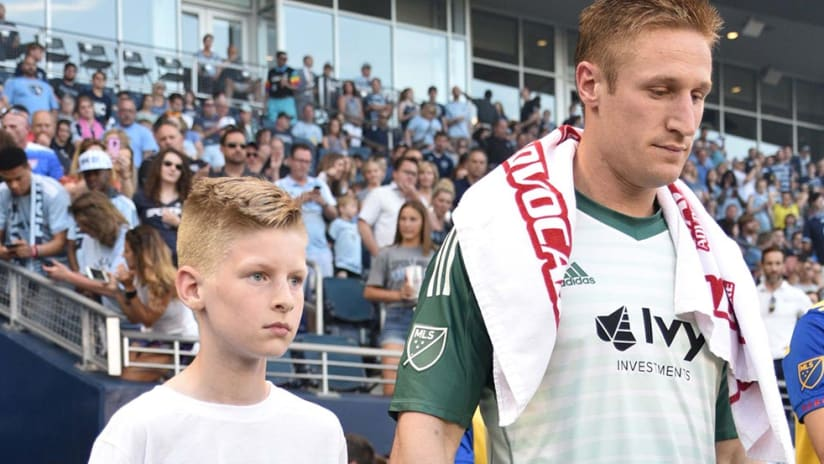 Tim Melia - Walks out of Tunnel - at Children's Mercy Park