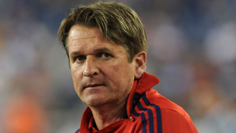 Consterned Frank Yallop, Chicago Fire