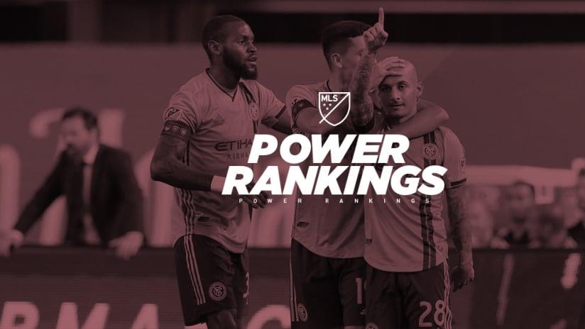 NYCFC - Power Rankings - celebrate Mitrita goal