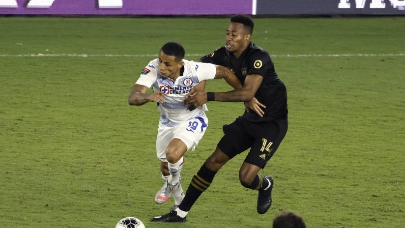 CCL - 2020 - LAFC vs. Cruz Azul battle for ball