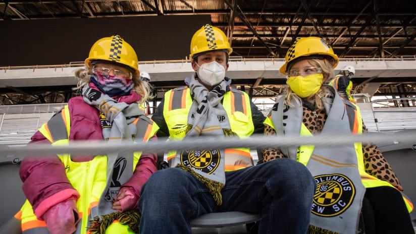 Columbus Crew stadium - fans sitting in new seats