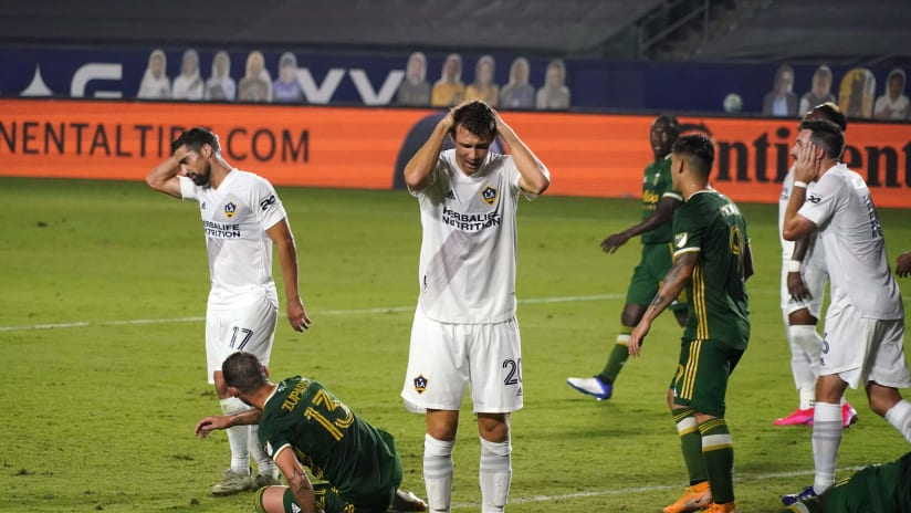 LA Galaxy disappointed looks vs. Portland - Oct. 7, 2020