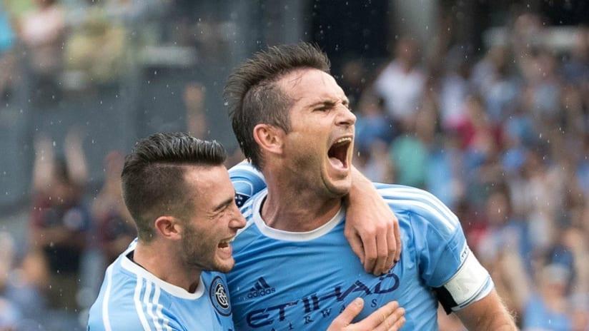 Frank Lampard - NYCFC - Celebrate goal vs COL