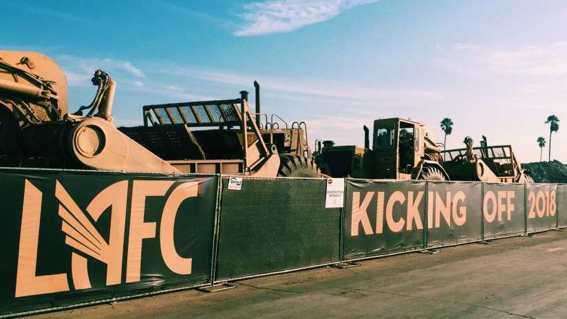 LAFC construction site signs, October 2016