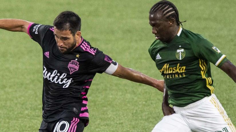 Nico Lodeiro & Diego Chara - Seattle vs Portland - Aug. 23, 2020