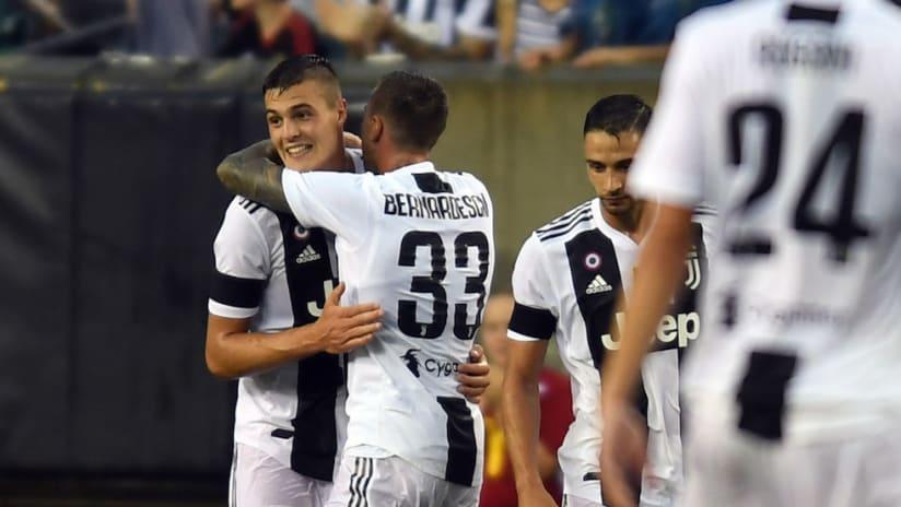 Juventus goal celebration vs. Bayern Munich